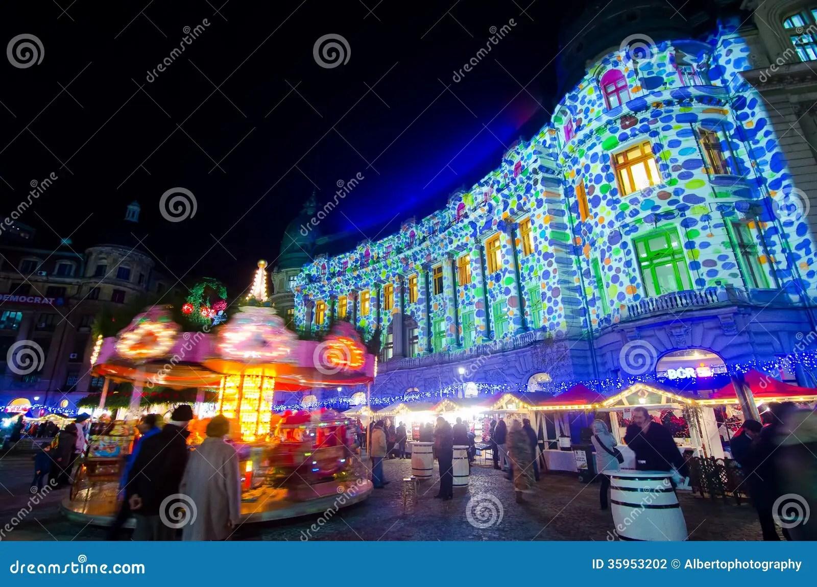 Christmas In BucharestV Editorial Photography Image