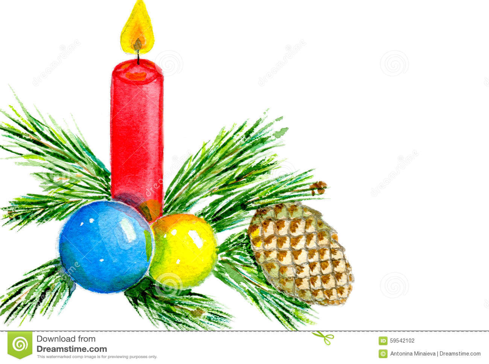 Christmas Cande Stock Illustration Image 59542102