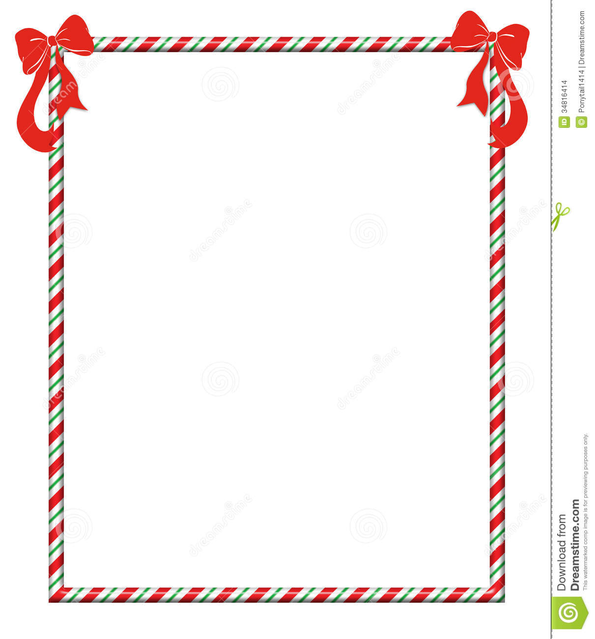 Christmas Candycane Frame Stock Images