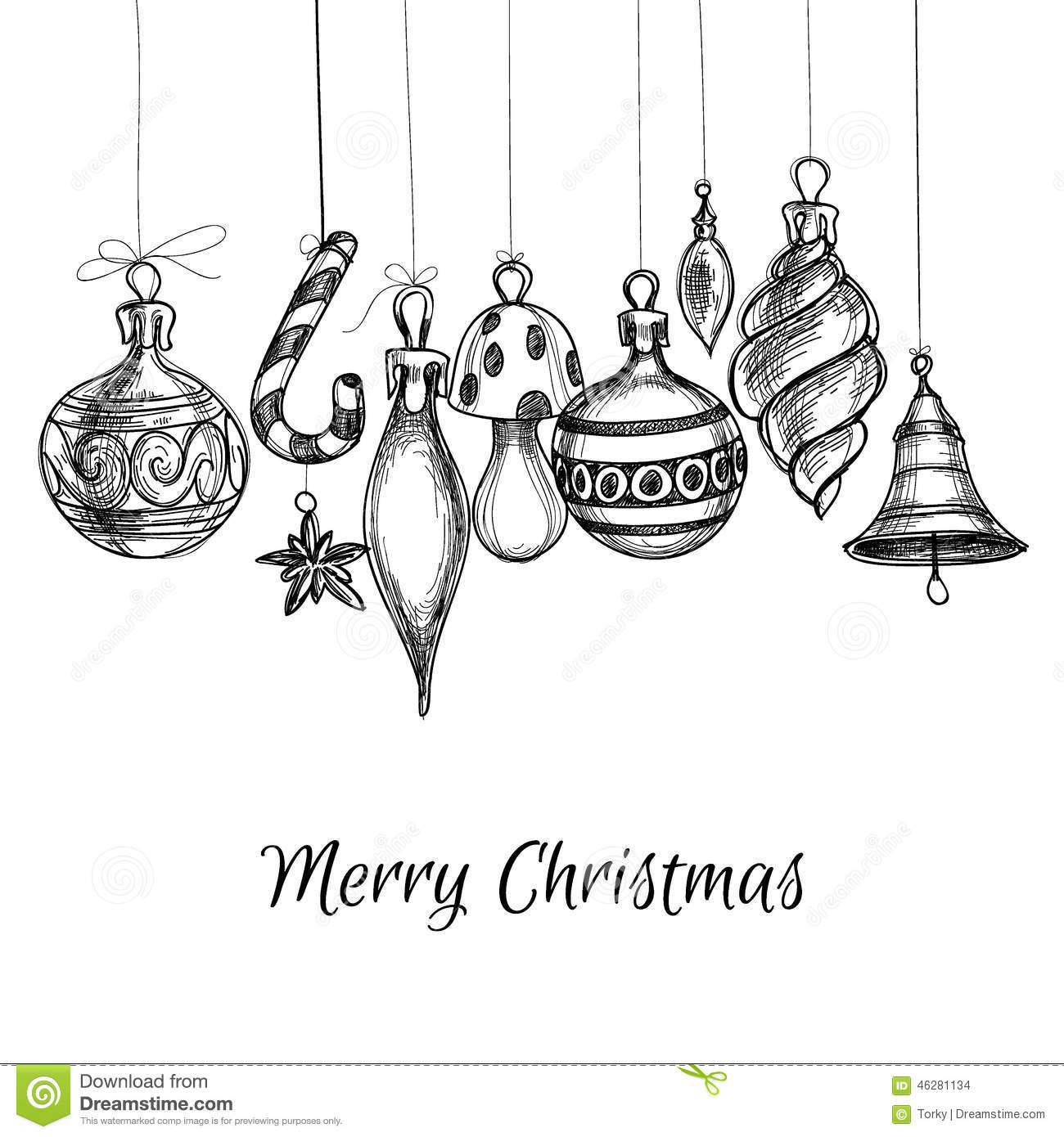 Christmas Card Stock Vector Illustration Of Drawing