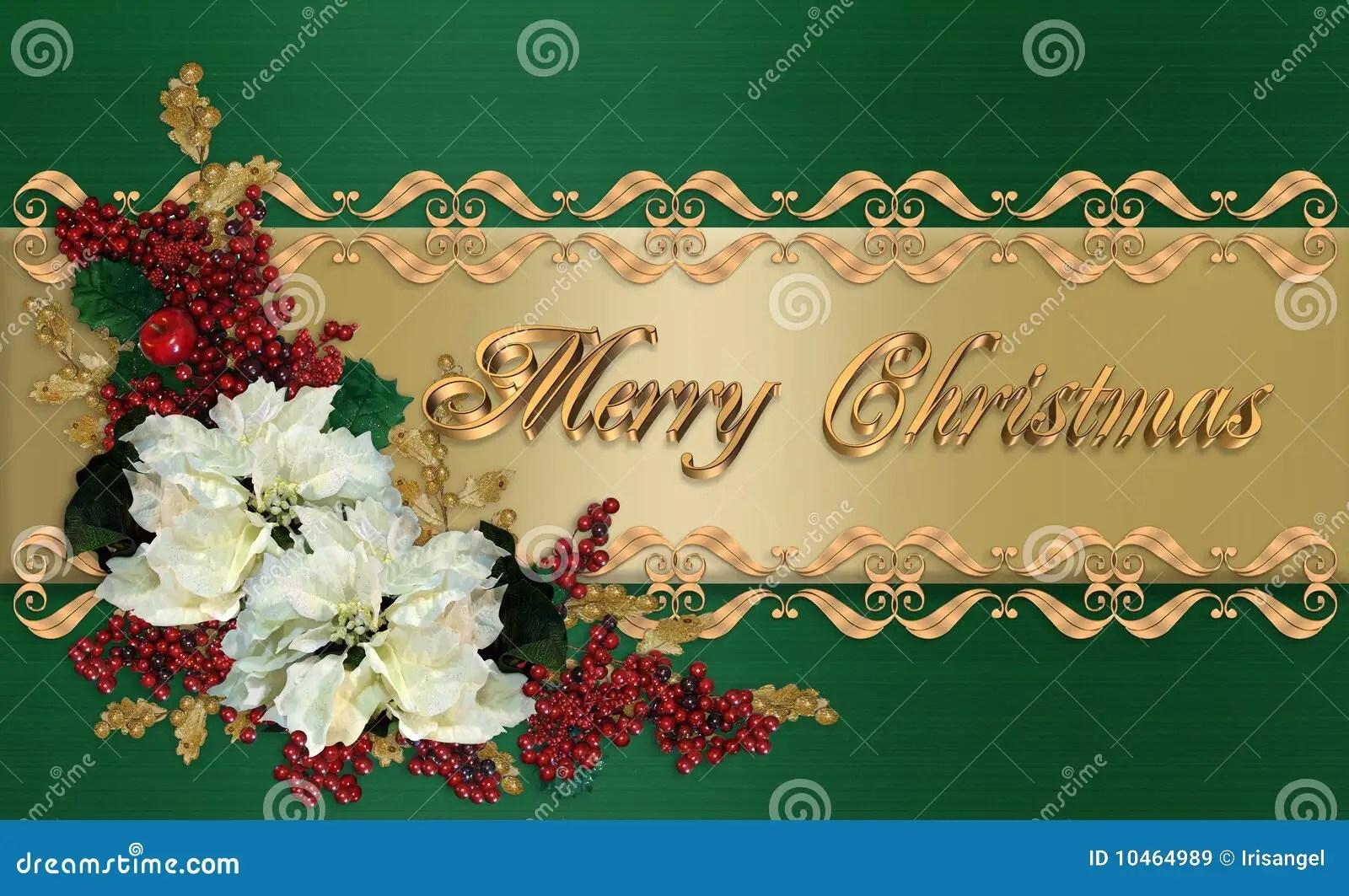 Christmas Card Elegant Greeting Stock Illustration Image