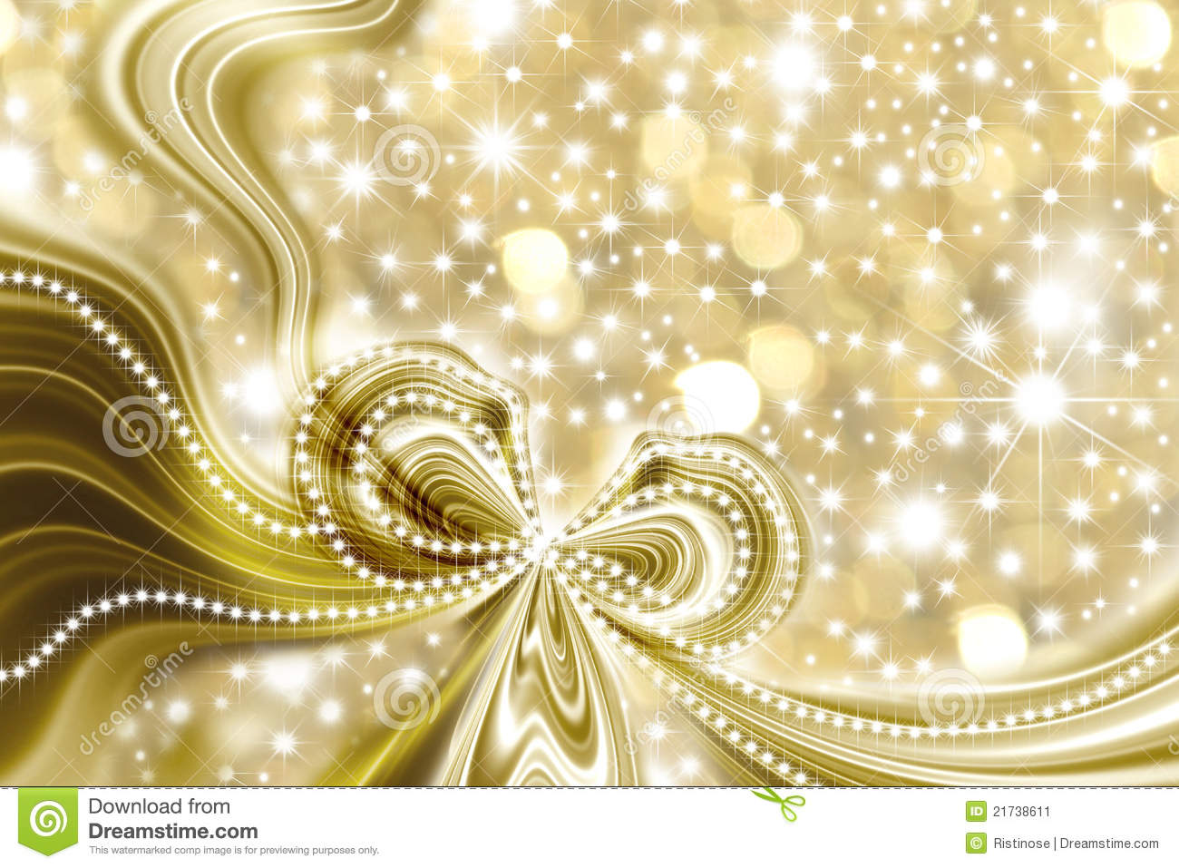 Christmas Card Gold And Stars Stock Illustration Image