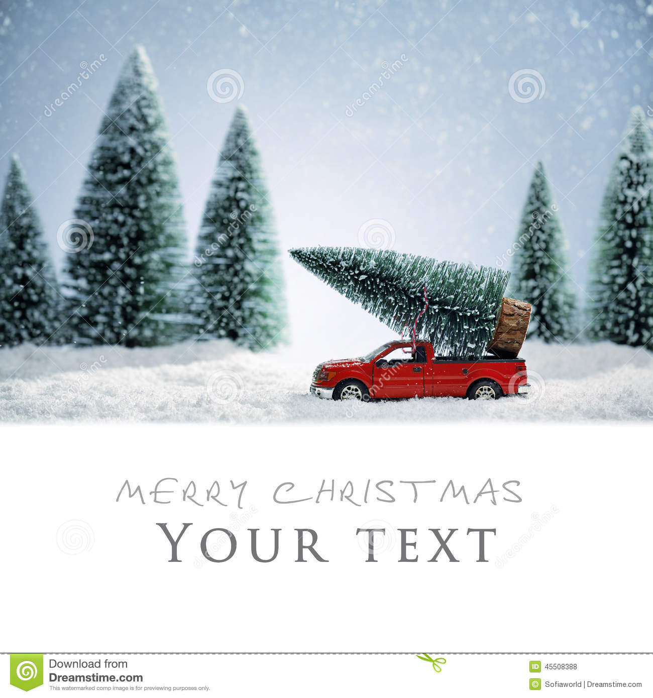 Christmas Card Stock Photo Image Of Background Snow
