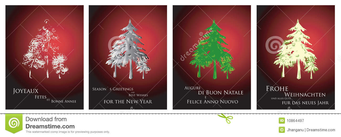 Christmas Cards 2014 Stock Vector Illustration Of Drawing