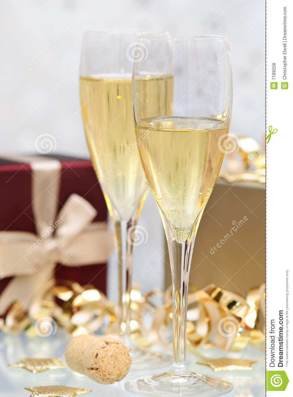 Christmas Champagne Royalty Free Stock Photos Image 7189258