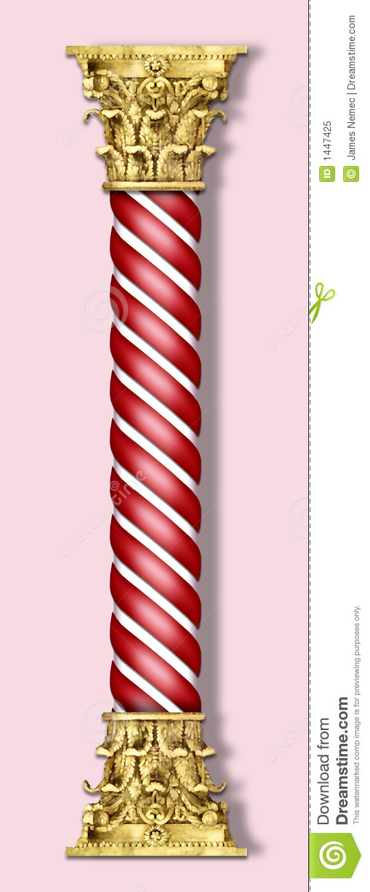 Christmas Column In Red Stock Illustration Image Of
