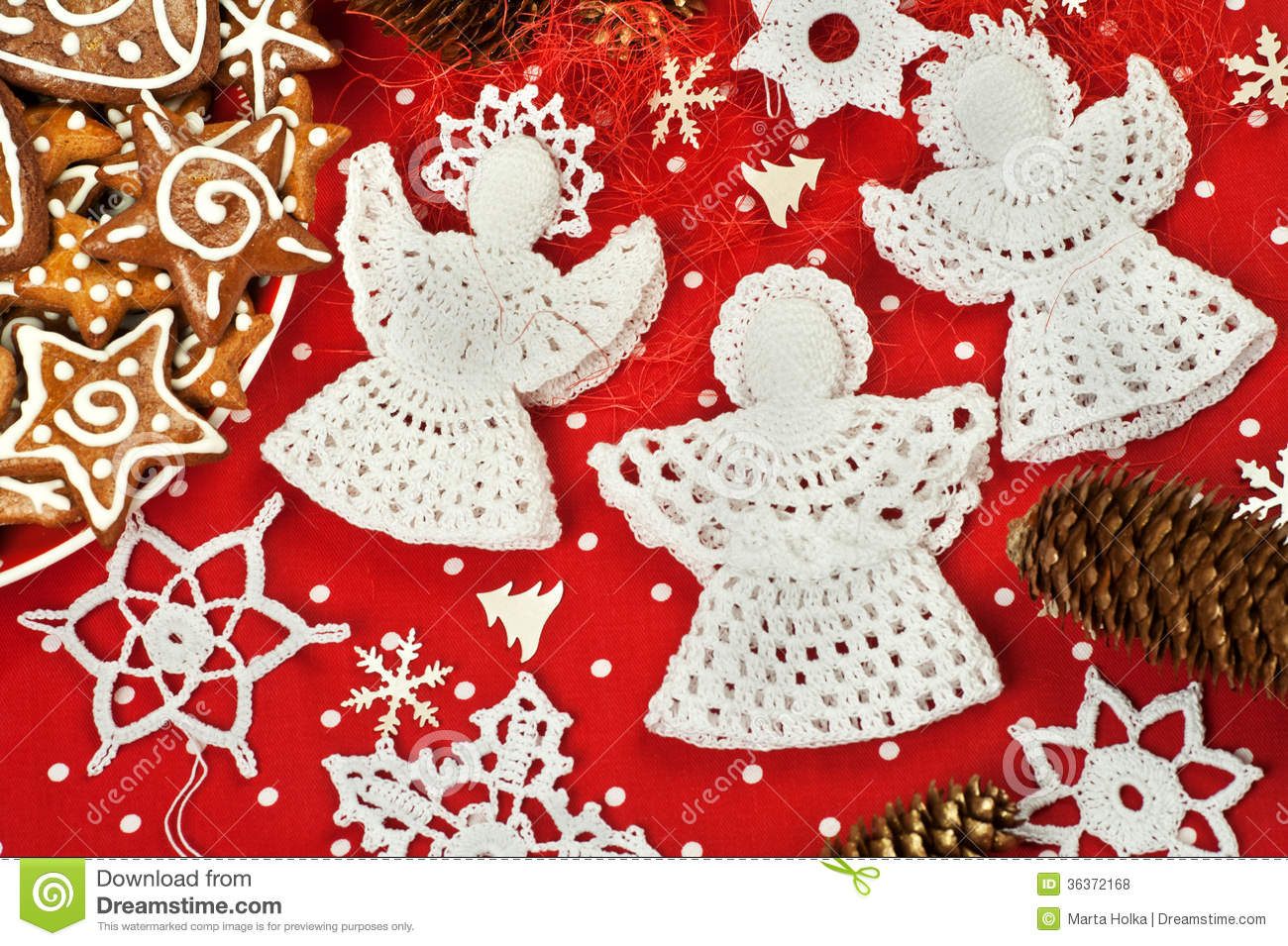Christmas Crochet Decorations Stock Photo Image 36372168