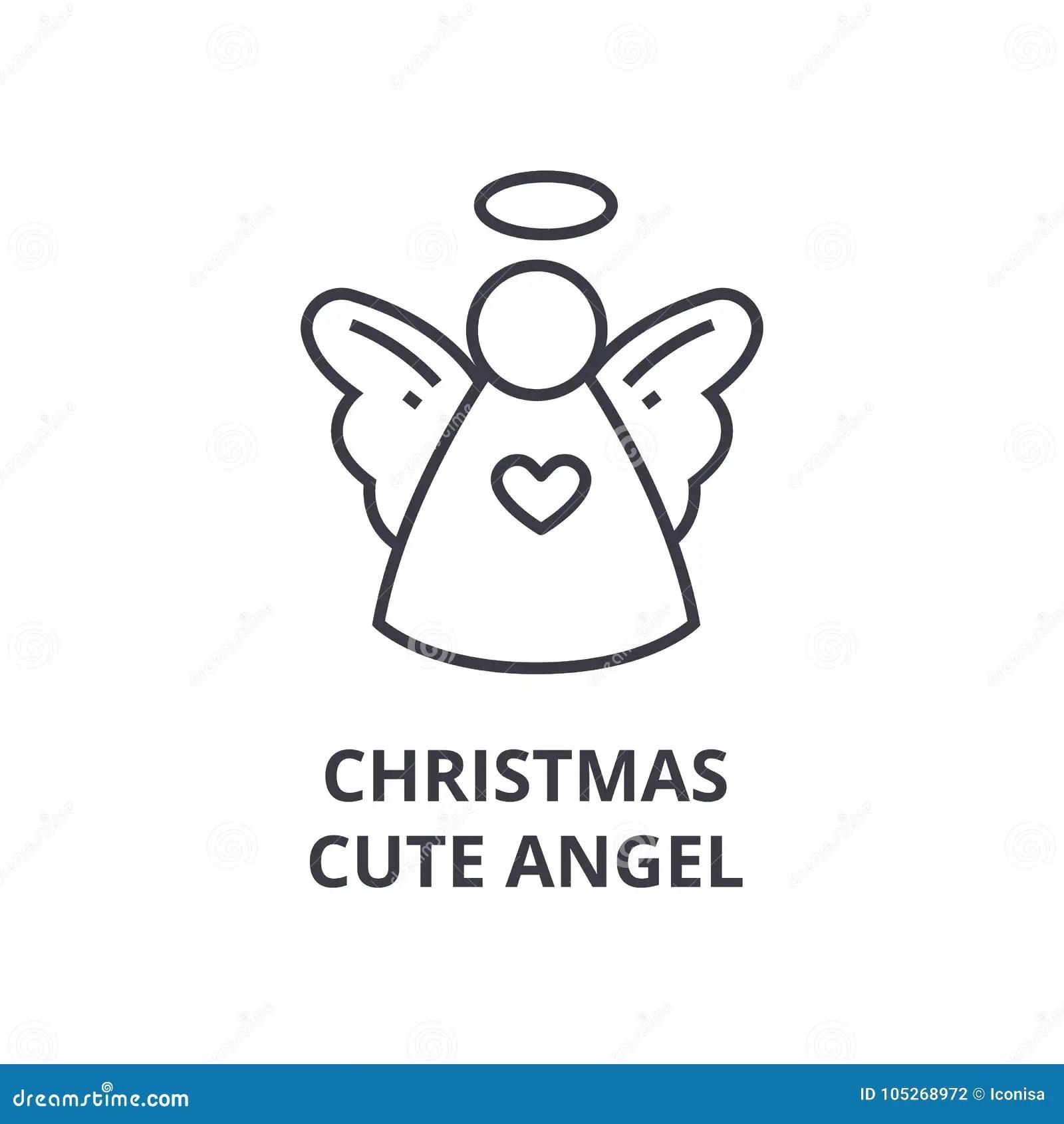 Little Angel On Christmas Tree Stock Photo