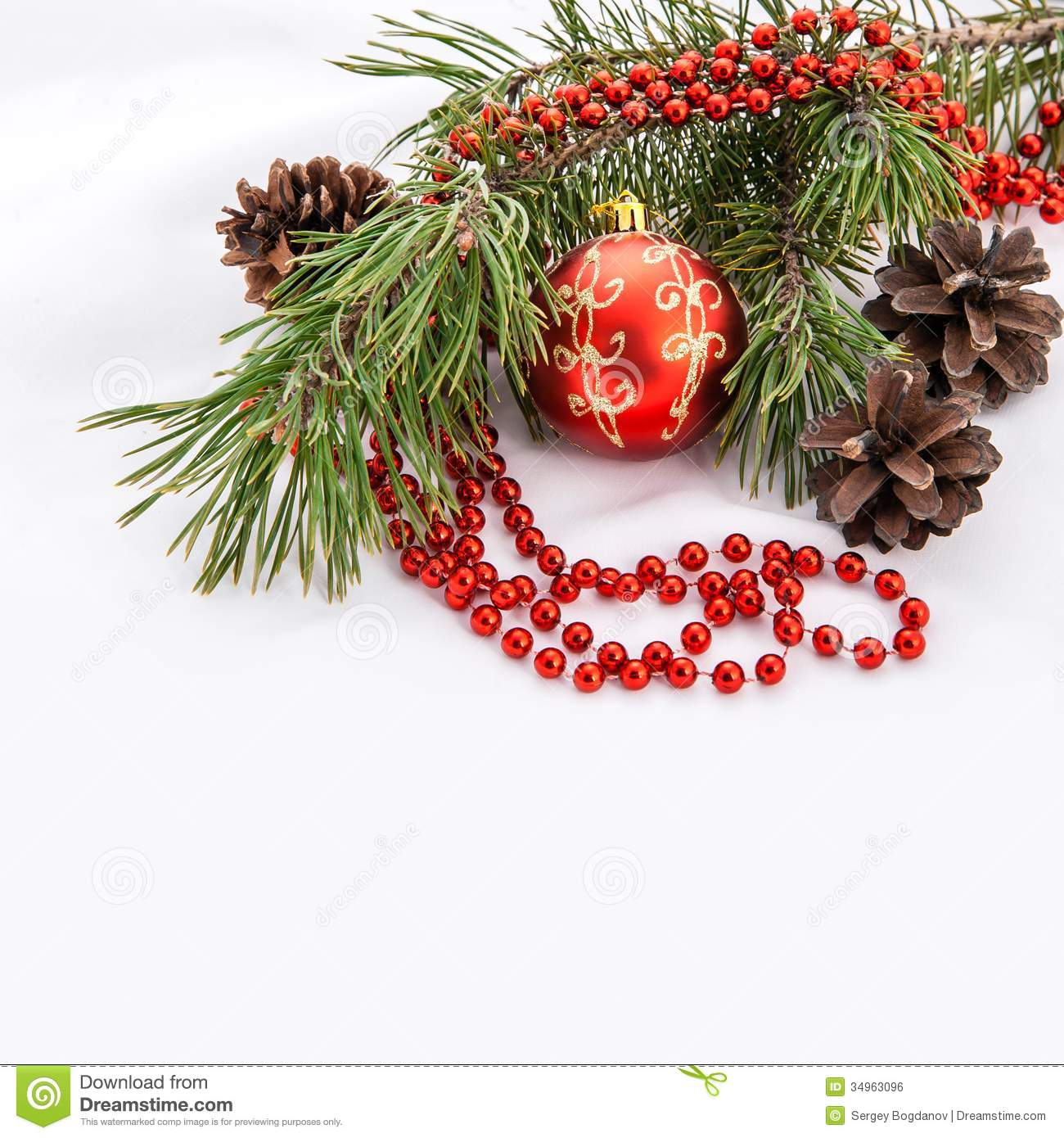Christmas Decoration With Copy Space Royalty Free Stock