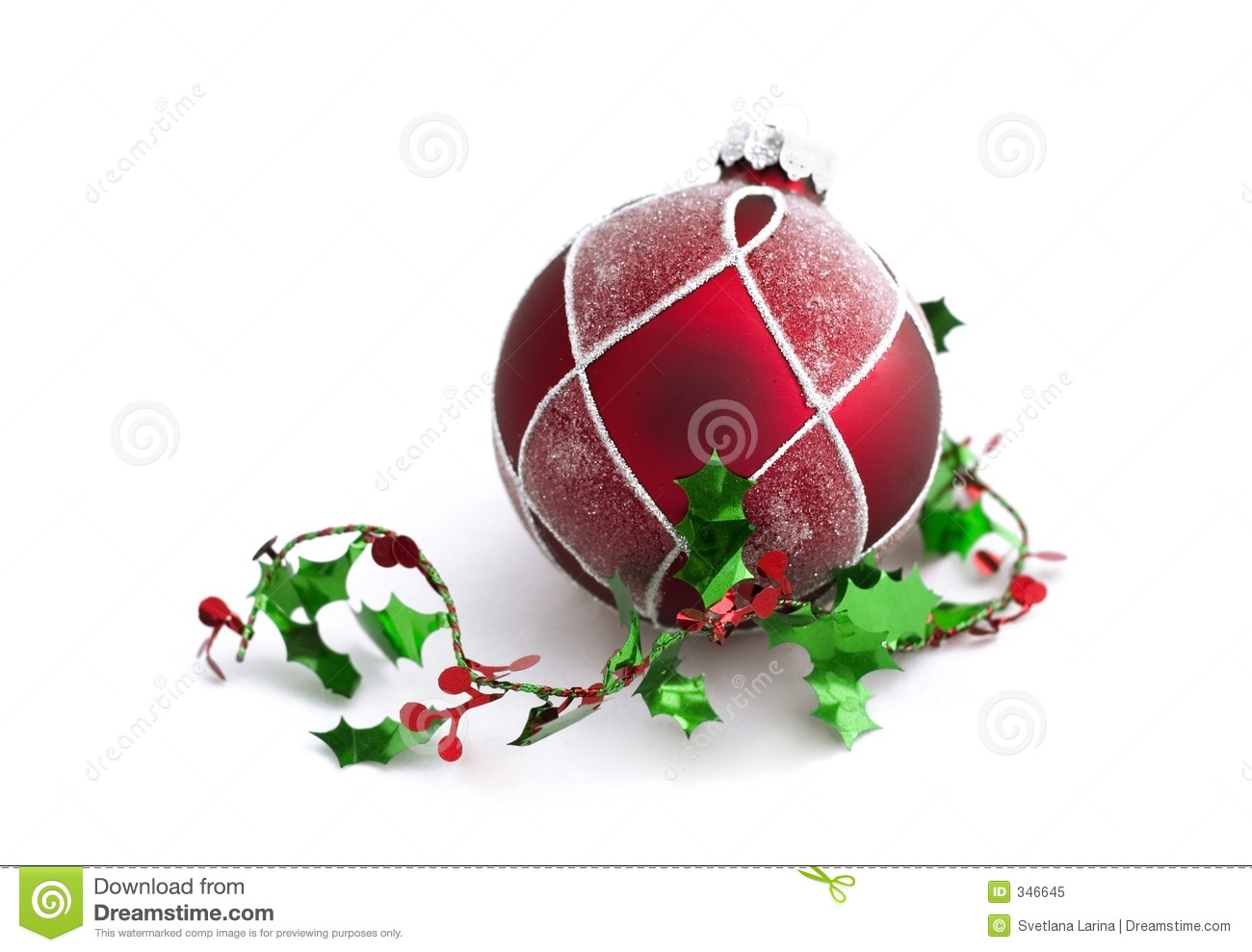 Christmas Decorations With Free Space Royalty Free Stock