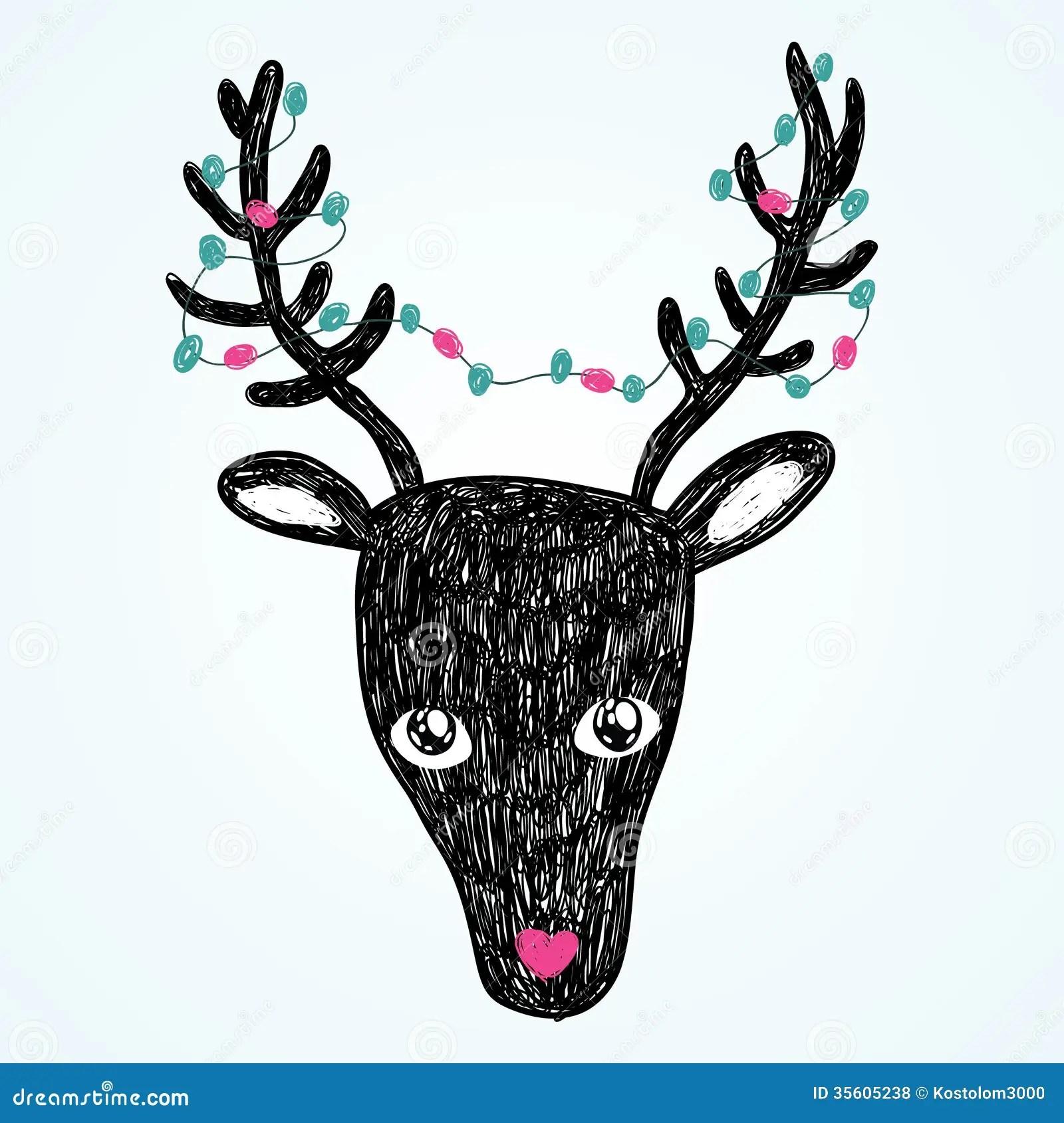 Christmas Deer Illustration Royalty Free Stock Photos