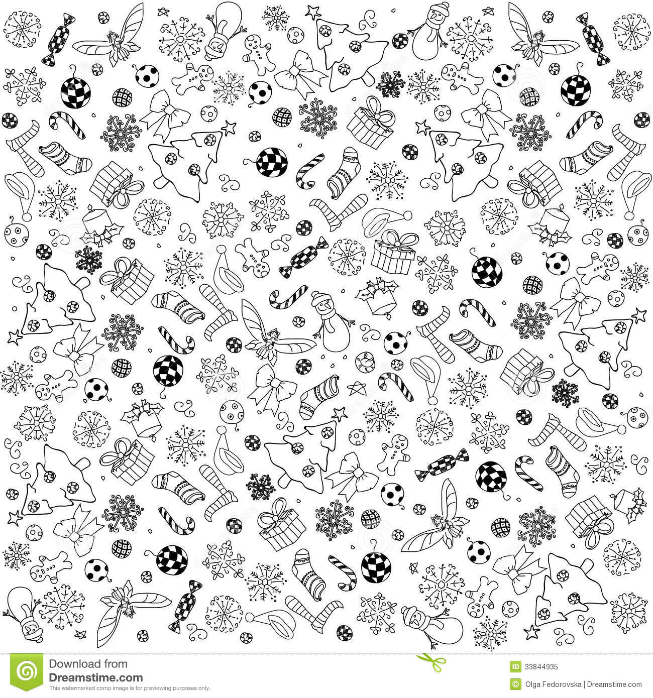Christmas Doodles Background Royalty Free Stock Photo