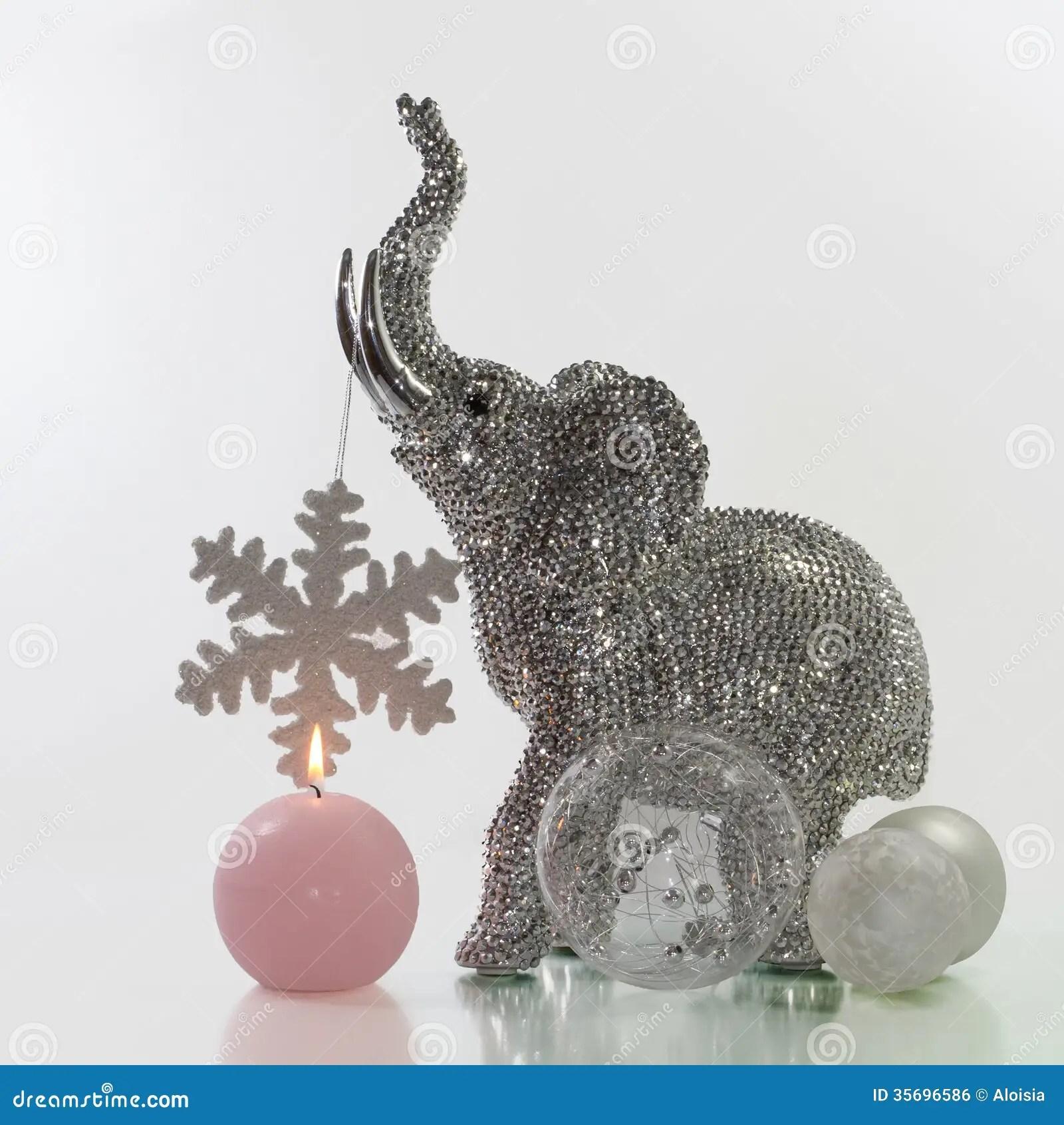 Christmas Elephant Stock Photo Image Of Decoration