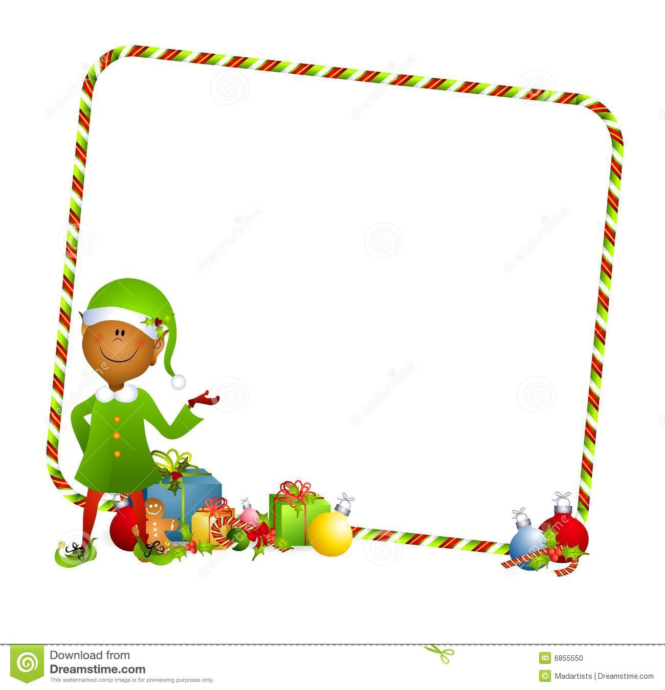 Christmas Elf Background Stock Illustration Illustration