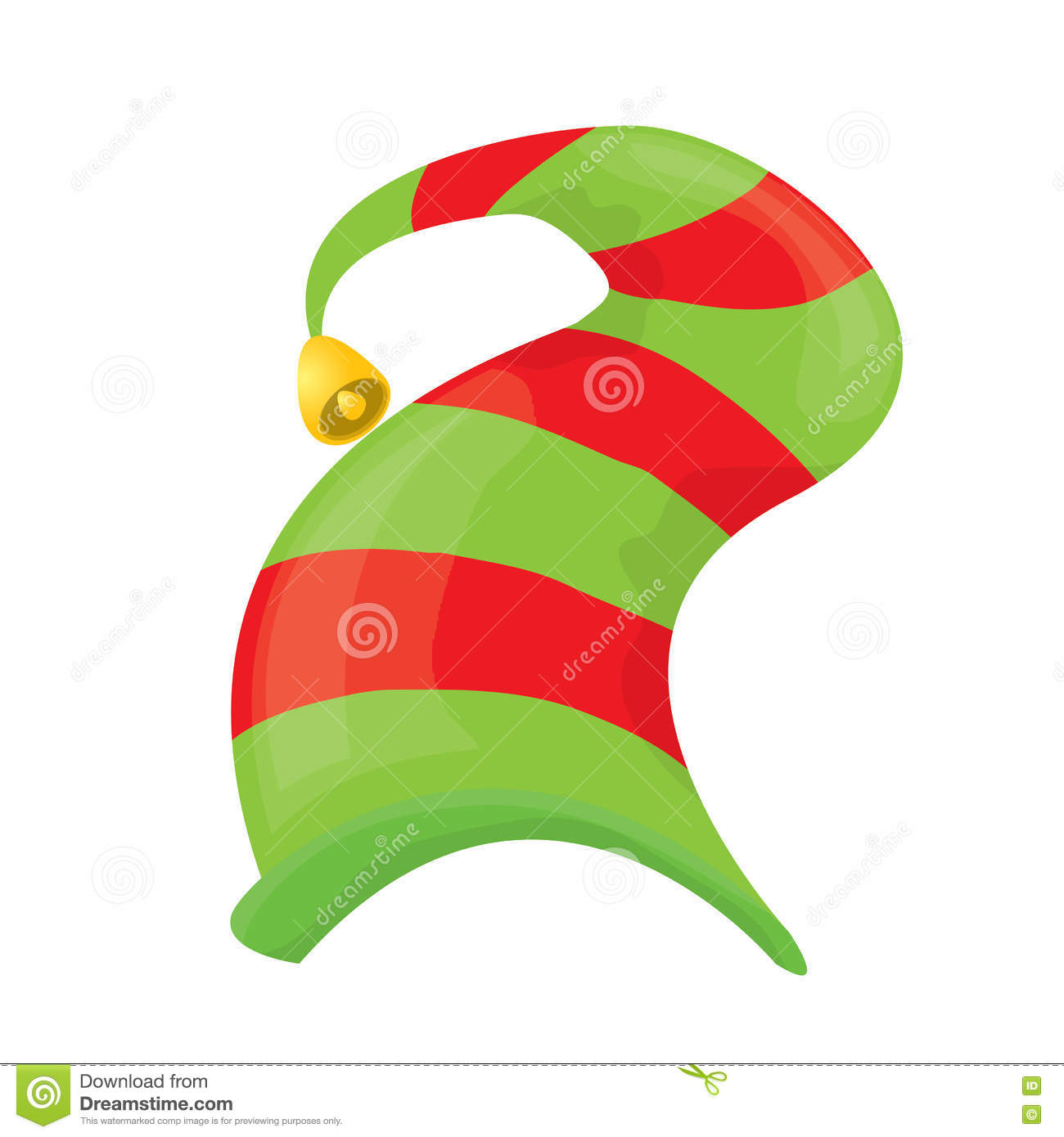 Christmas Elf Hat Vector Illustration Stock Vector