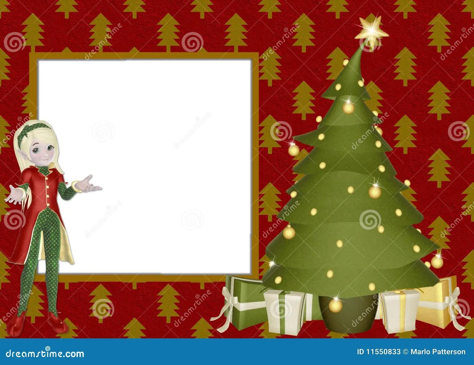 Christmas Elf Scrapbook Page Stock Illustration Image