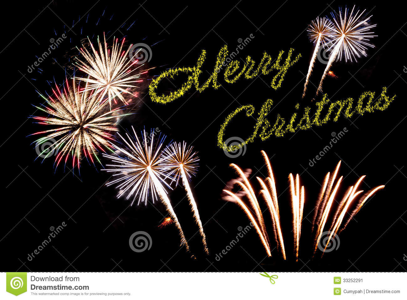 Christmas Fireworks Stock Image Image Of Green