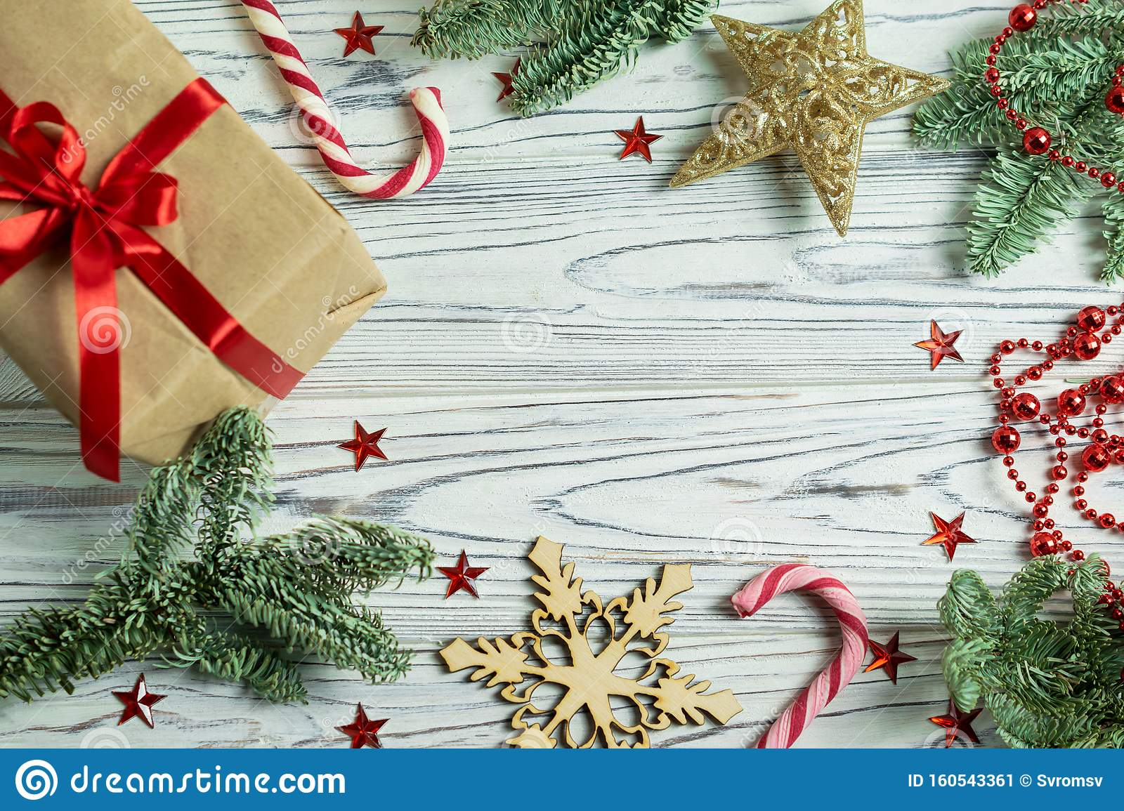 Christmas Frame Decorations With Fir Tree Branches
