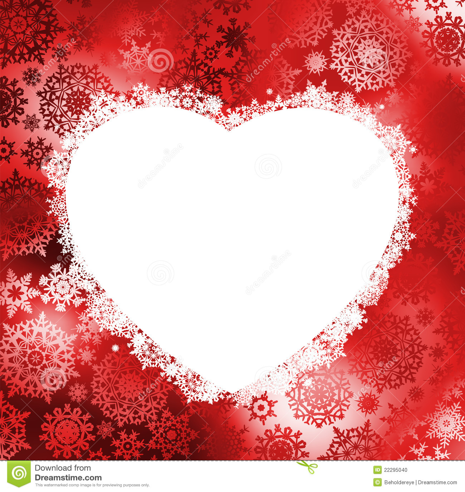 Christmas Frame In The Shape Of Heart EPS 8 Stock Vector