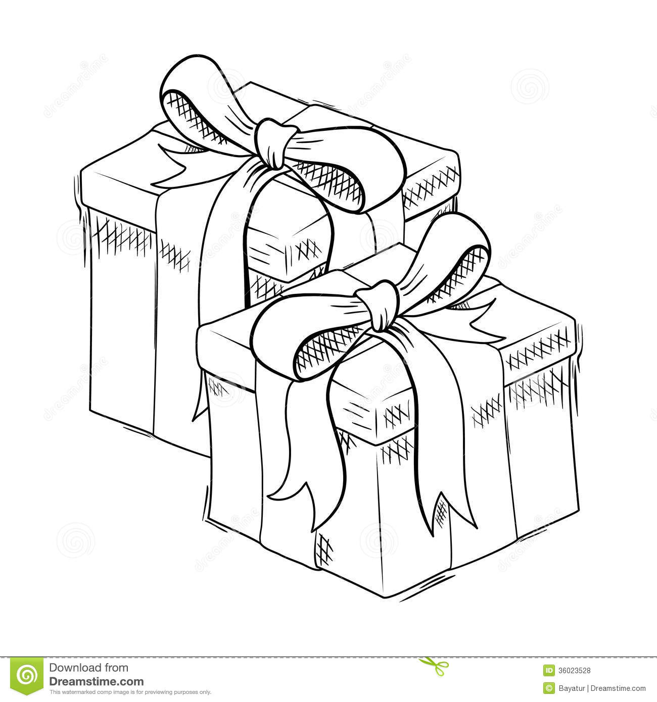 Christmas T Sketch Royalty Free Stock Photos