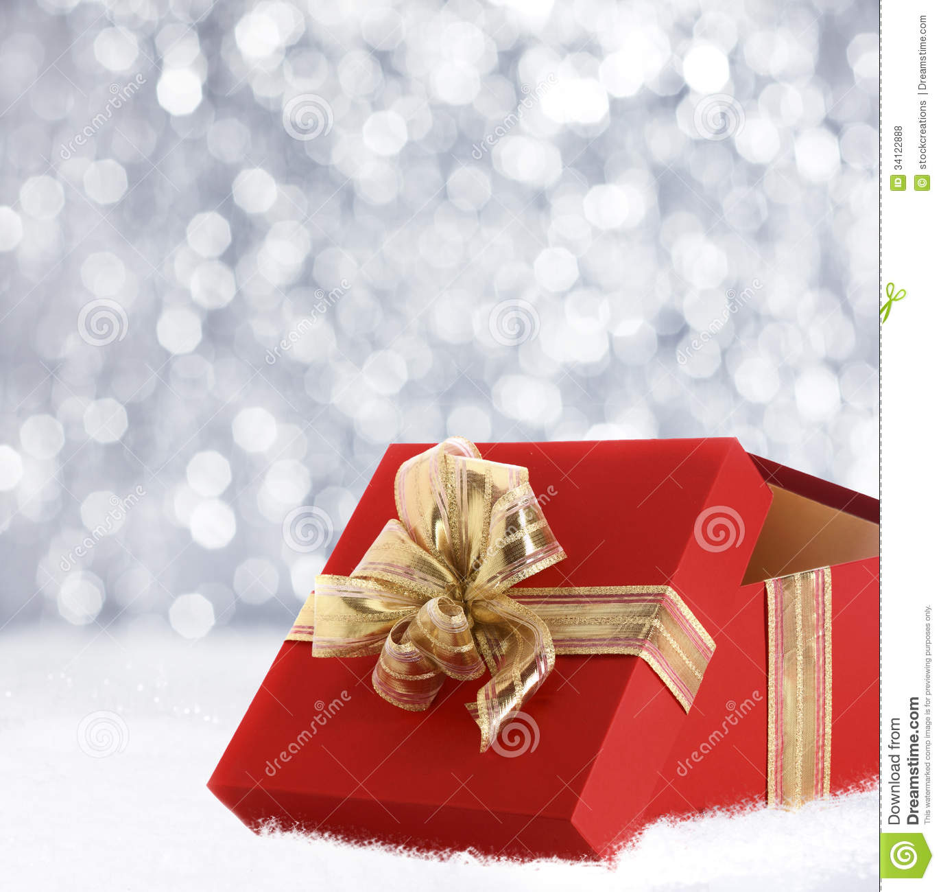 Christmas Gift In Winter Snow Stock Illustration Image
