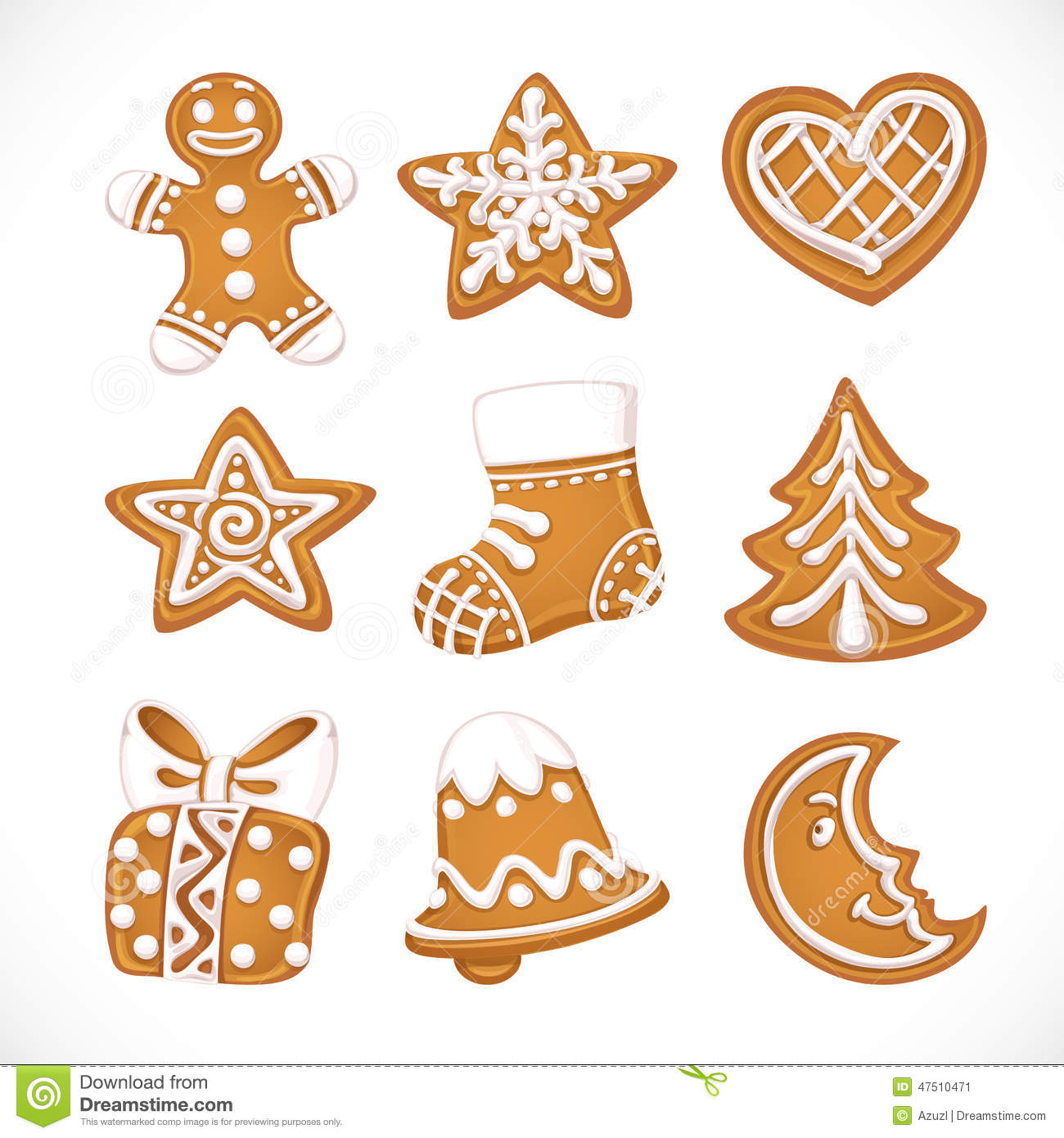 Christmas Gingerbread Stock Vector Illustration Of Icing