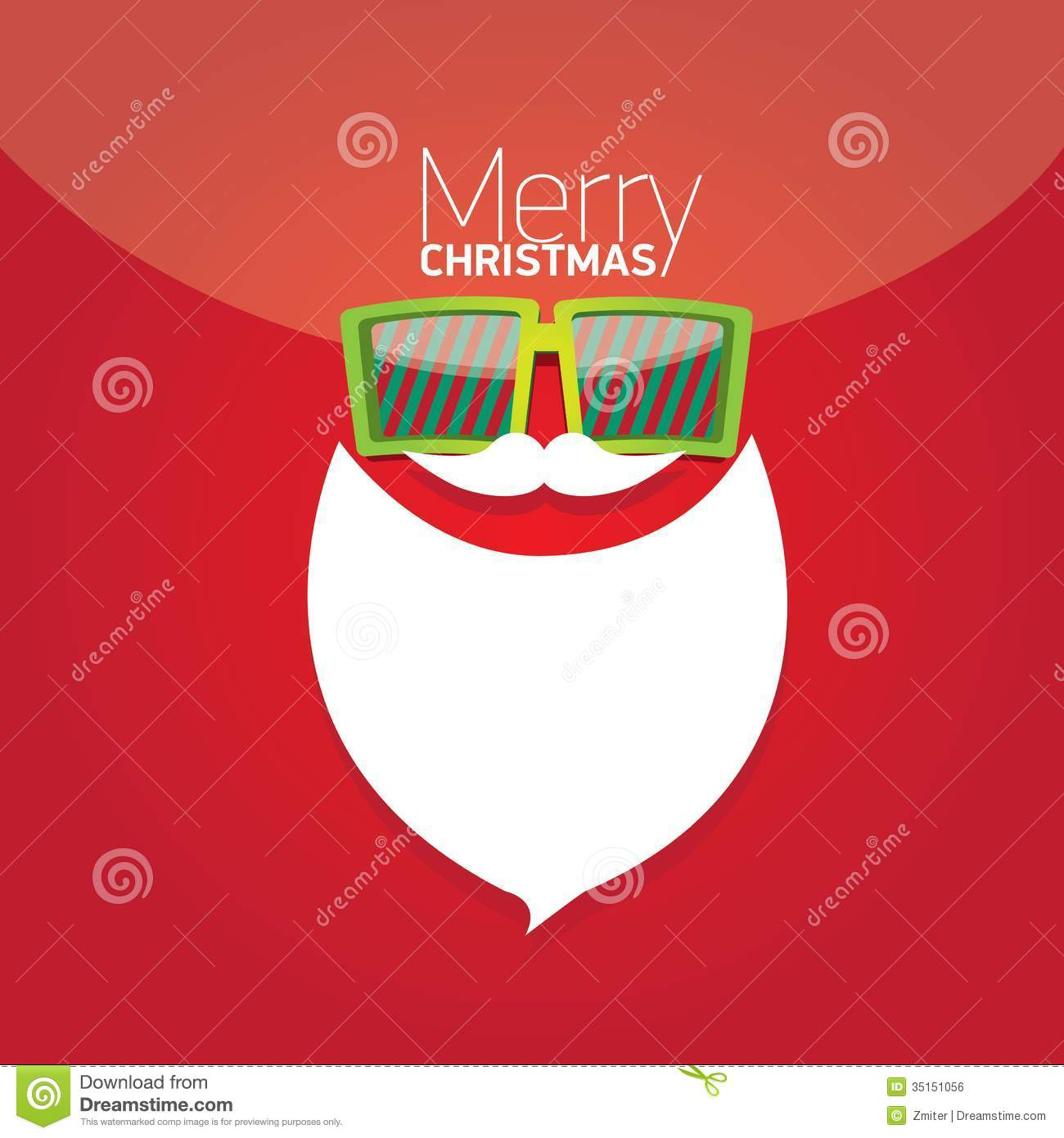 Christmas Hipster Poster For Party Or Card Stock Vector