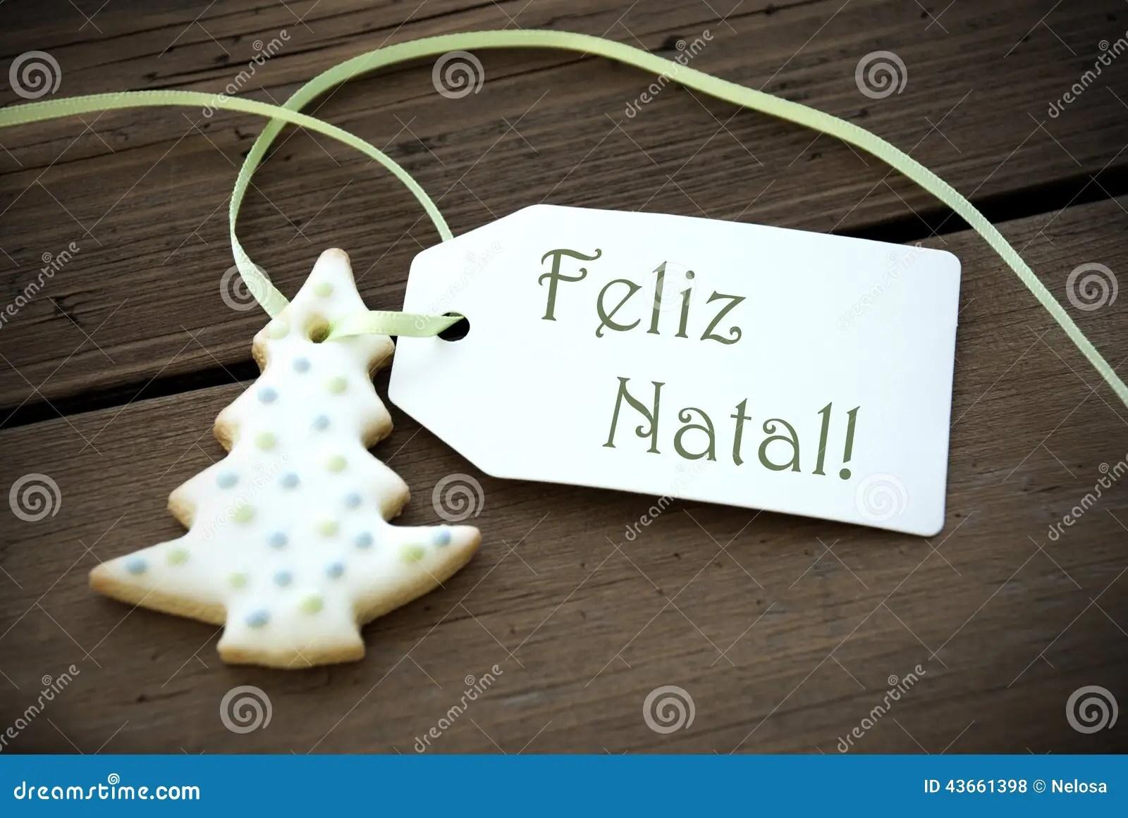 Christmas Label With Feliz Natal Stock Photo Image 43661398