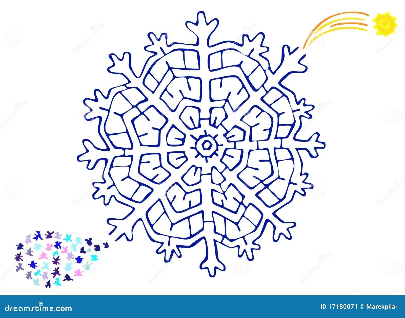Christmas Labyrinth Stock Illustration Illustration Of