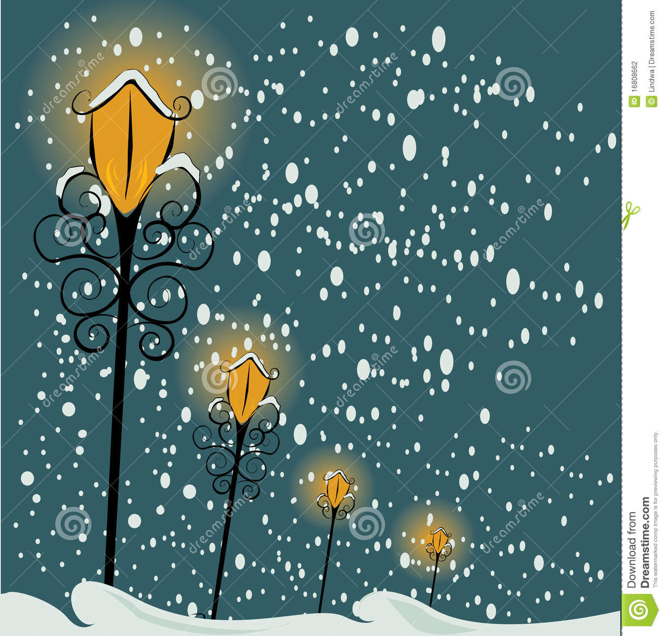 Christmas Lamppost Background Stock Photography Image