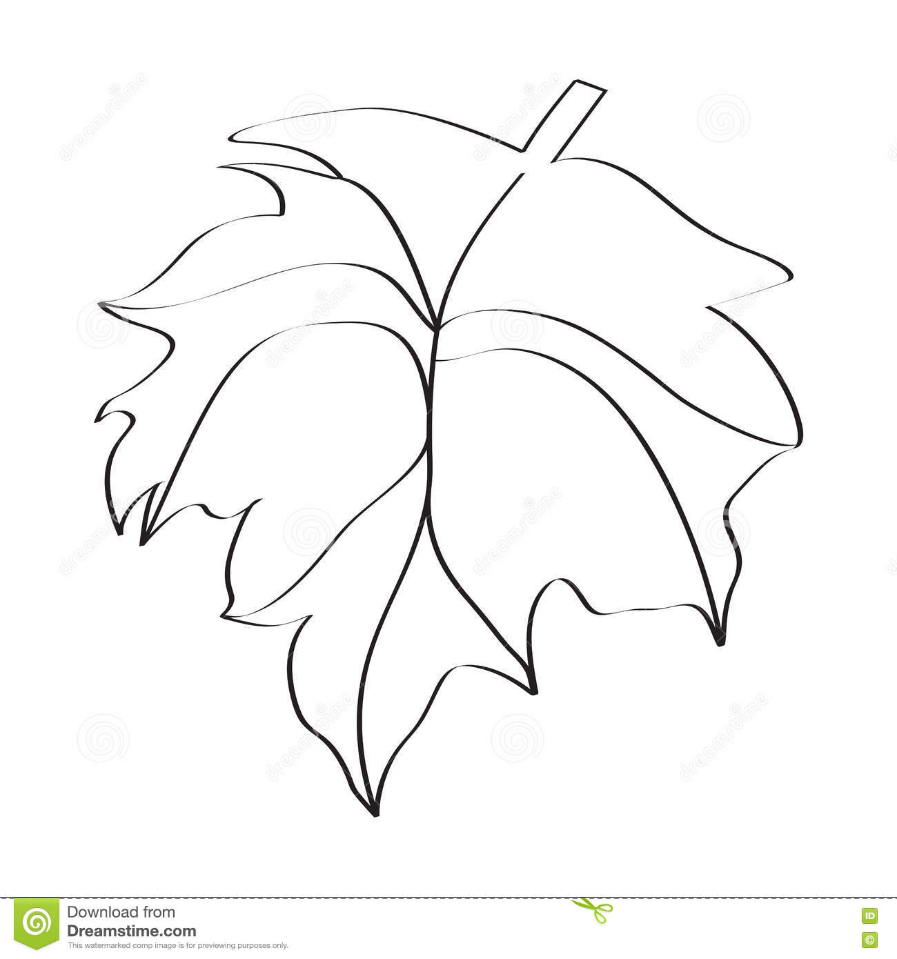 Black And White Christmas Holly Decoration Cartoon Vector