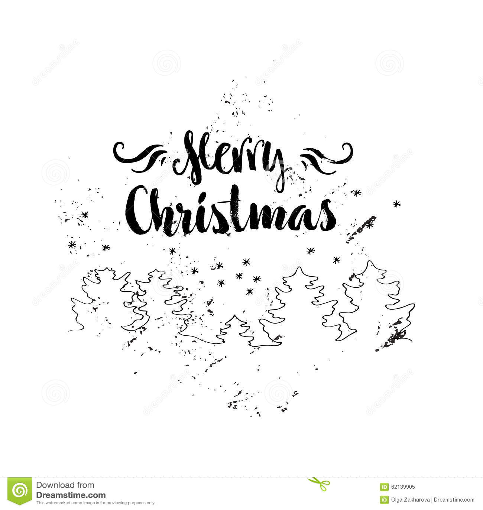 Christmas Lettering Stock Vector