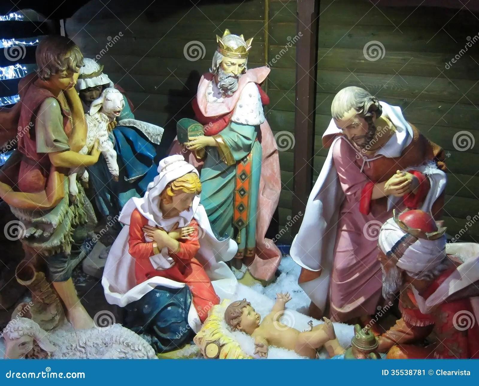 Christmas Nativity Jesus BirthThree Kings Stock Image