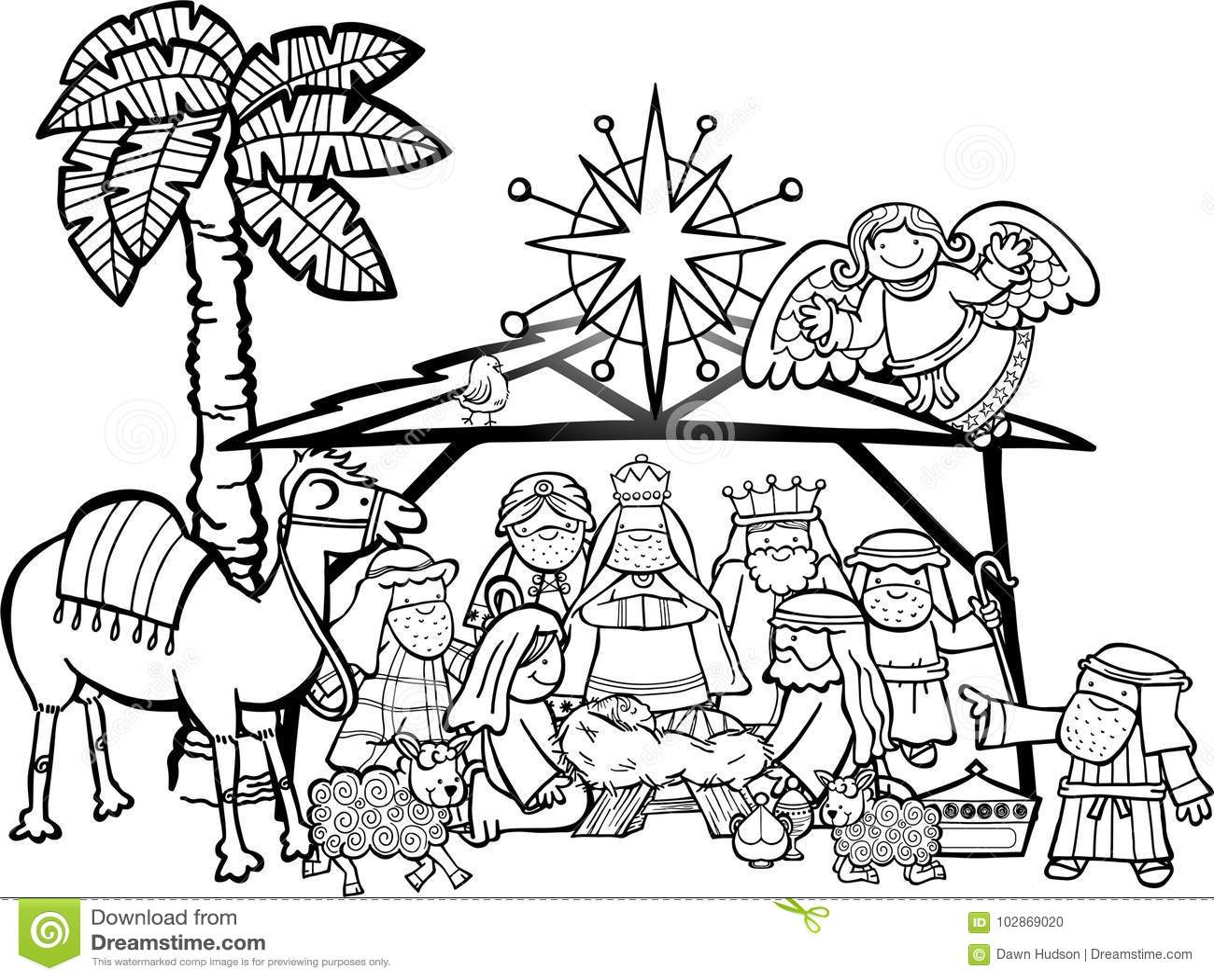 Christmas Nativity Scene Stock Illustration Illustration Of Kings