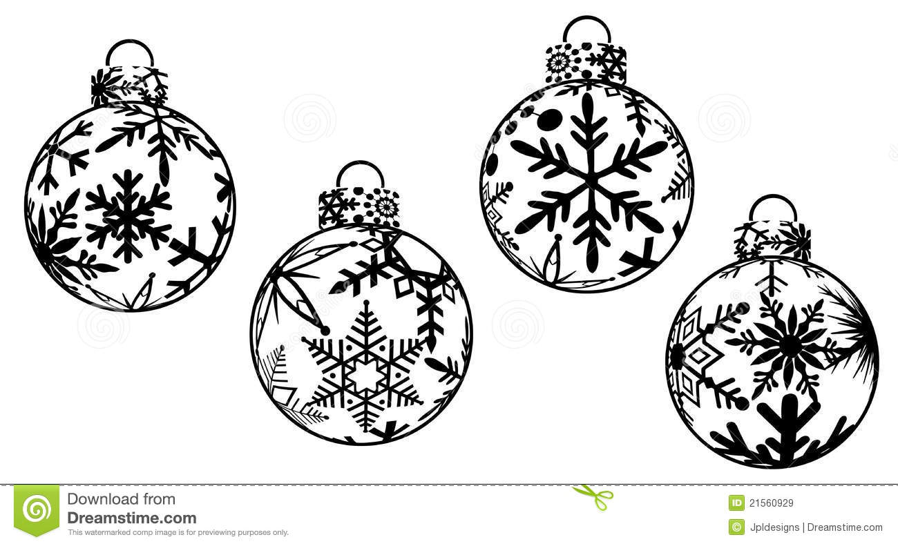 Christmas Ornaments Clipart Stock Illustration