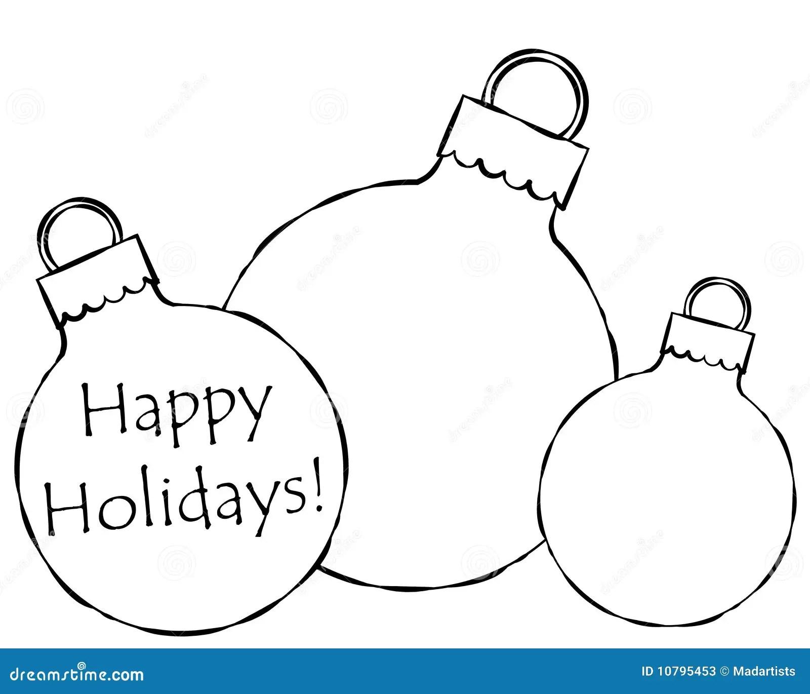 Christmas Ornaments Illustration Stock Illustration