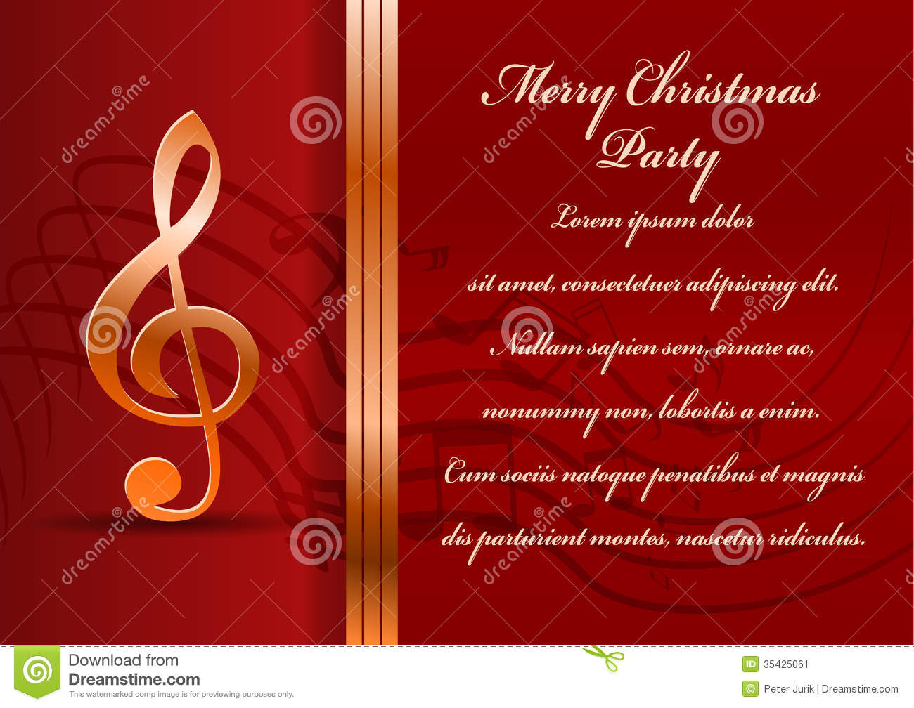 Christmas Party Card Stock Vector Illustration Of