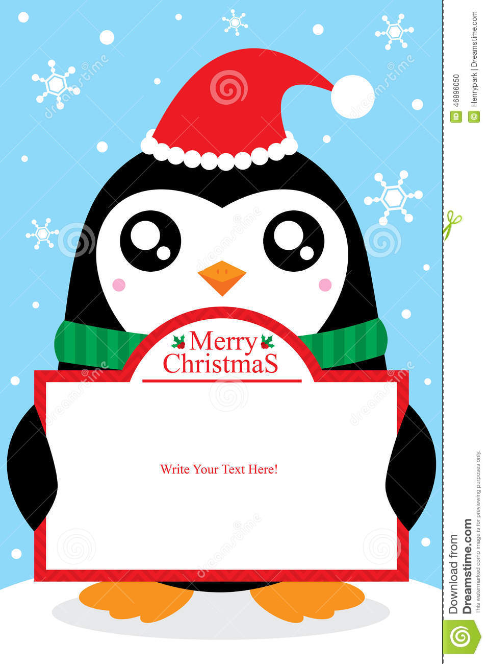 Christmas Penguin Card Stock Vector Image Of Design