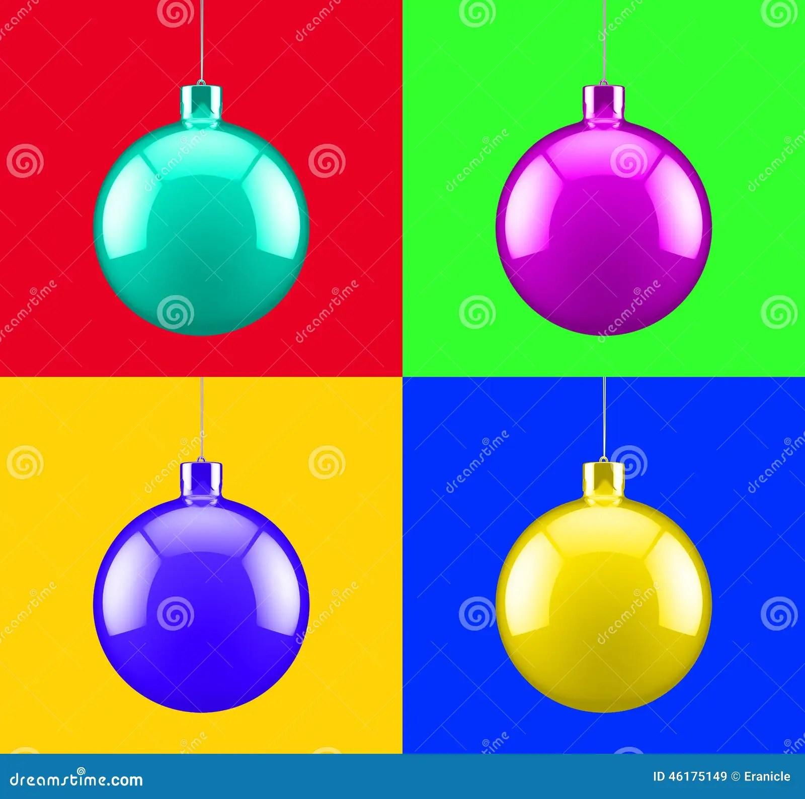 Christmas Pop Art Decoration Stock Illustration Image