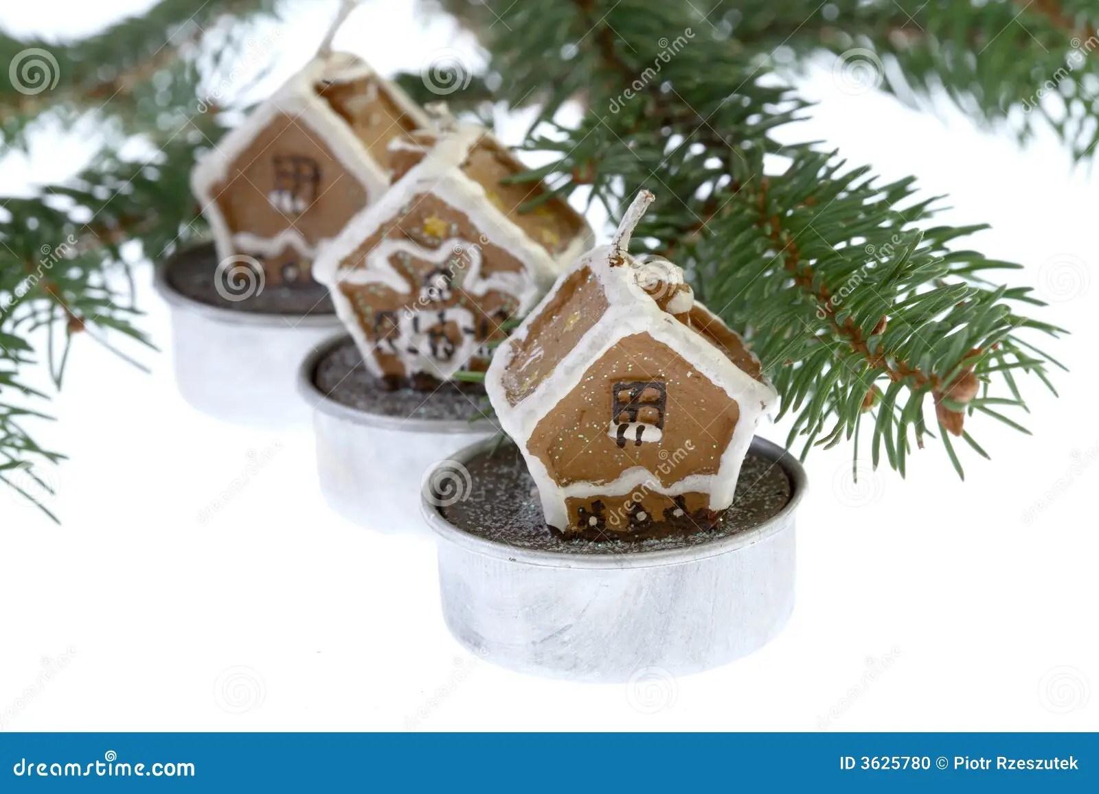 Christmas And Realestate Theme On White Stock Photo