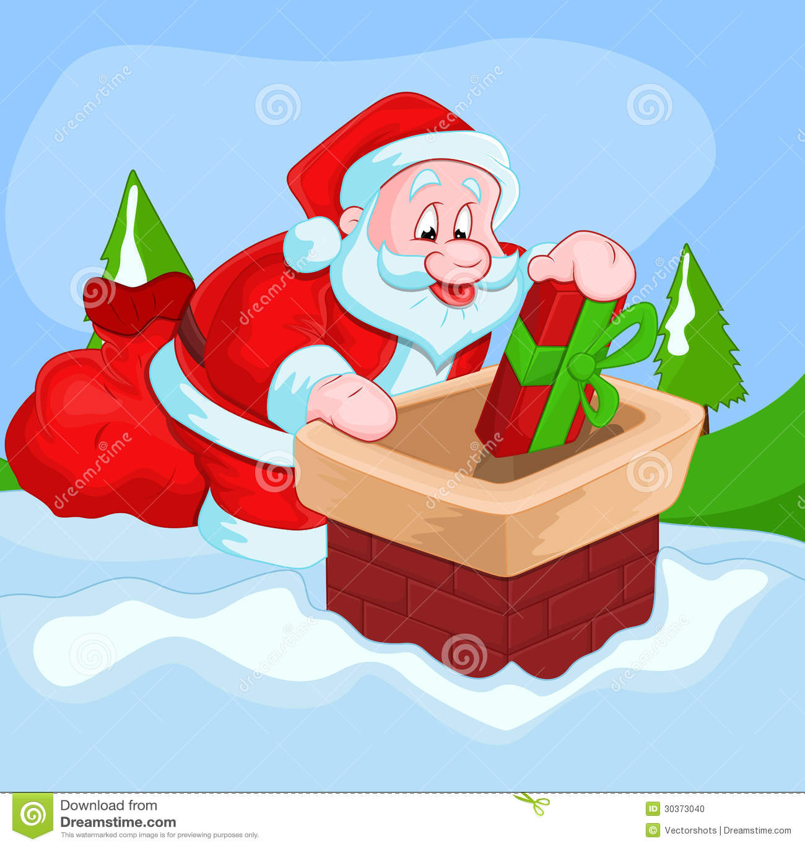 Christmas Santa Vector Illustration Stock Photo Image