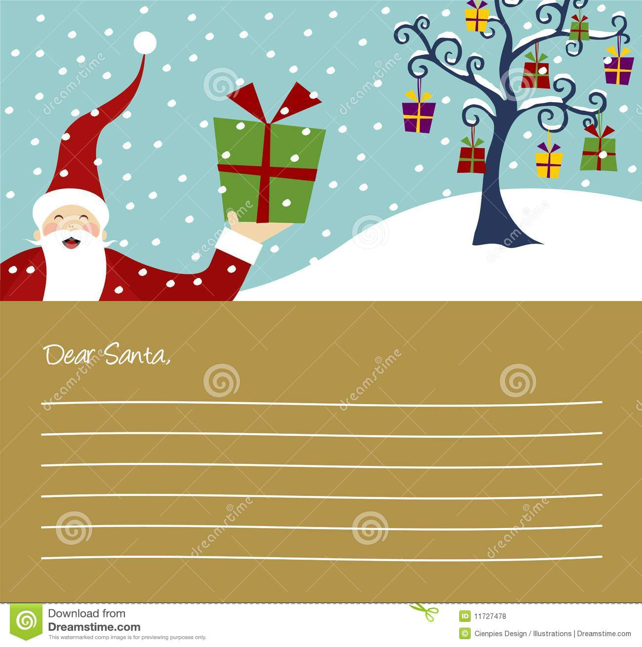 Christmas Series Christmas Tree Stock Vector