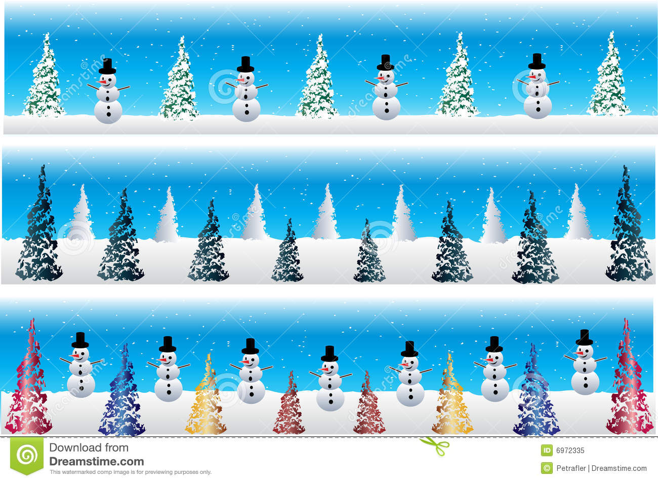 Christmas Snowman Banners Stock Vector Image Of Card