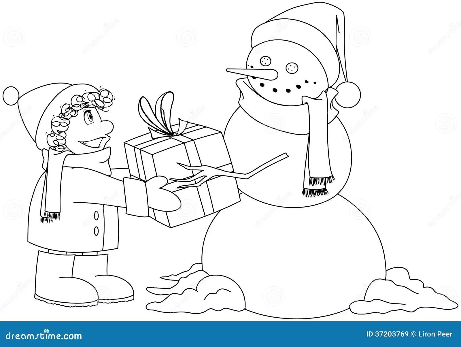 christma snowman clipart