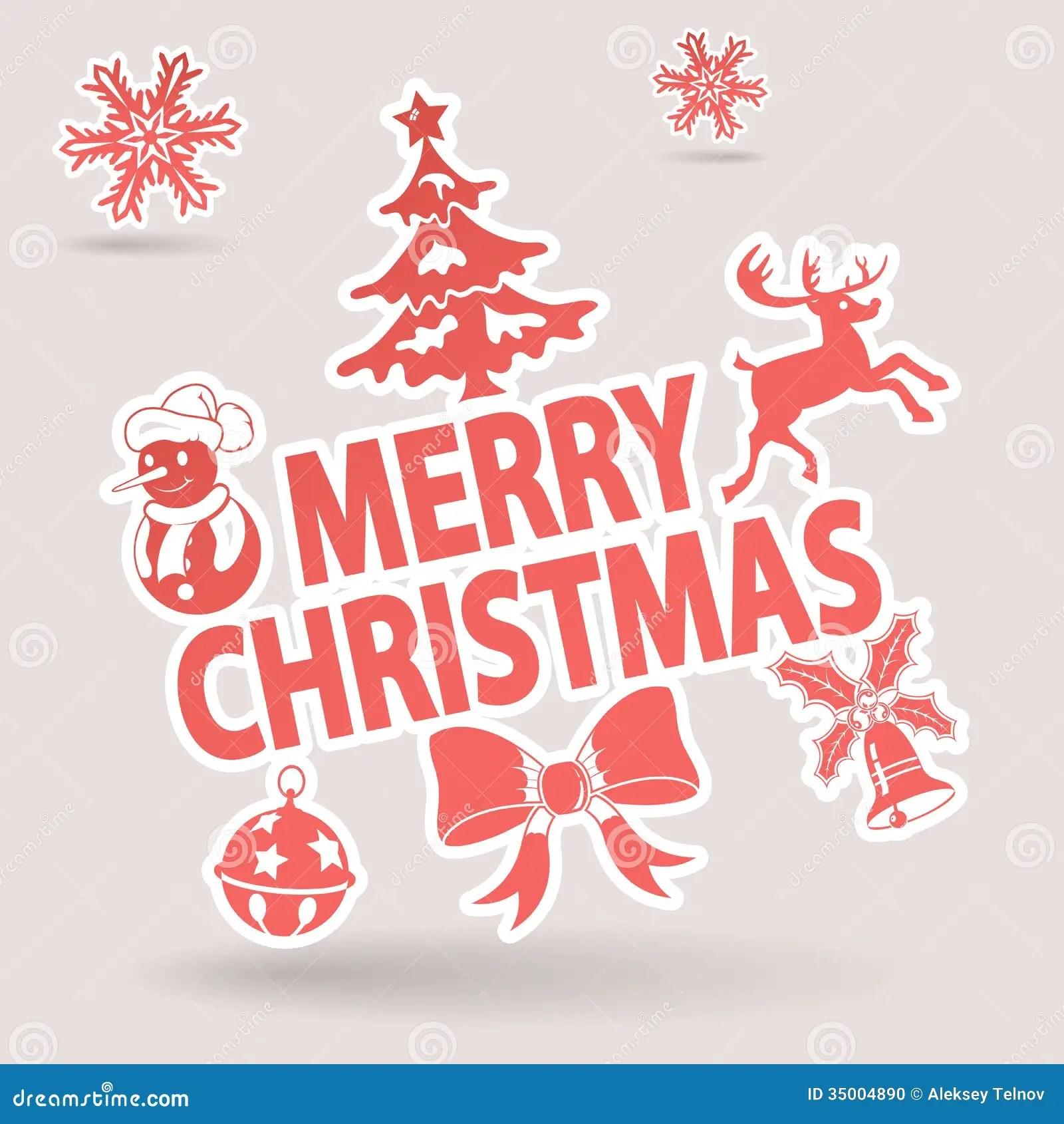Christmas Sticker Stock Photo Image 35004890