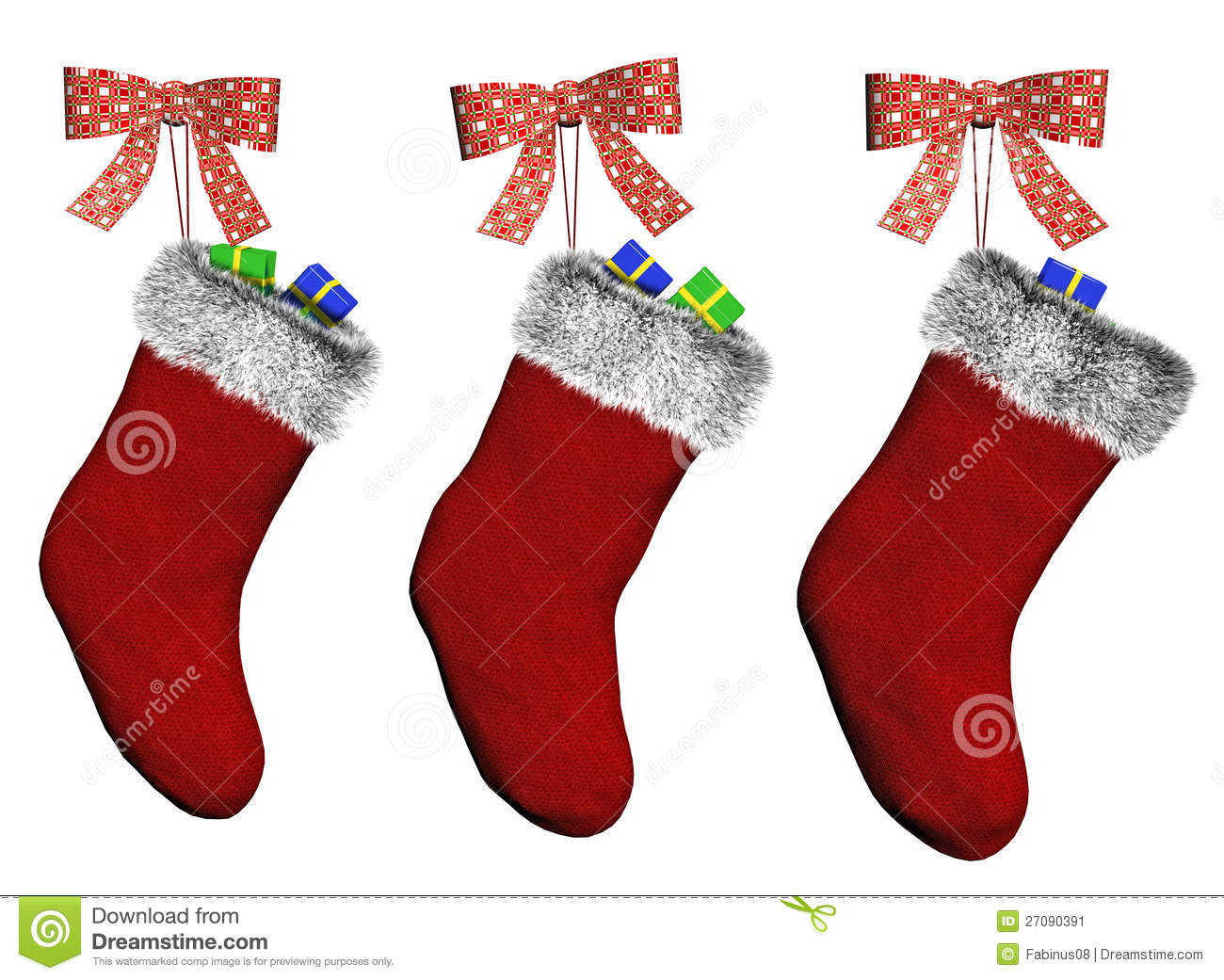 Christmas Stockings Stock Illustration Illustration Of