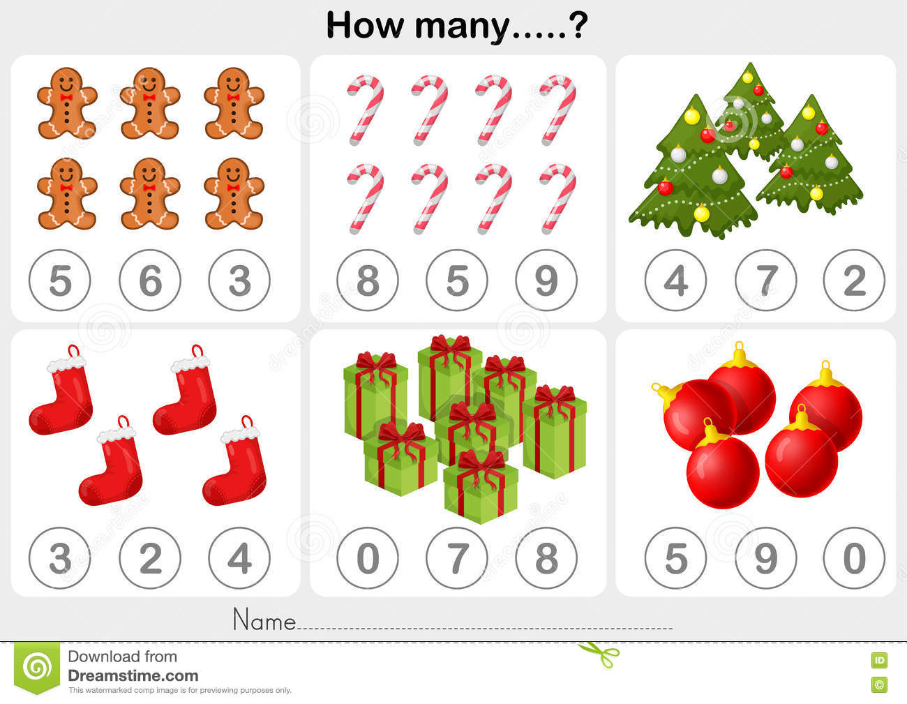 Christmas Theme Activity Sheet