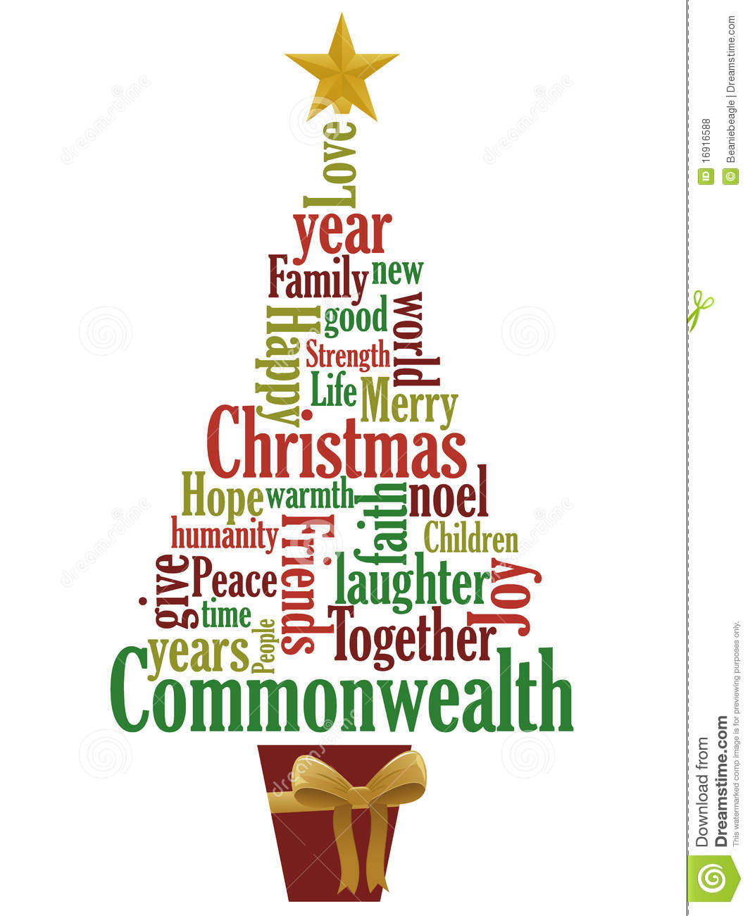 Christmas Tree Stock Vector Image Of Holiday December
