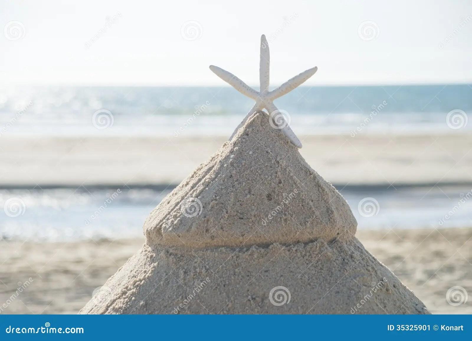 Christmas Tree On Beach Stock Image Image 35325901