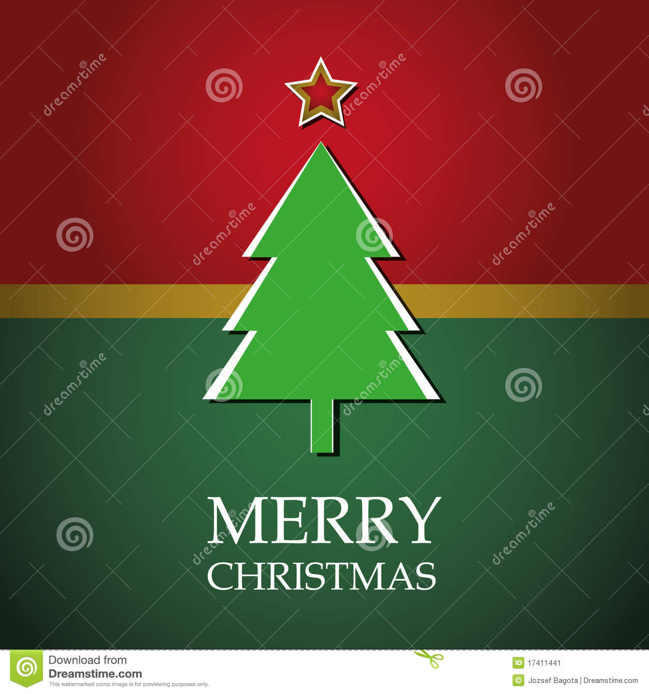 Christmas Tree Card Stock Vector Image Of Flake Object